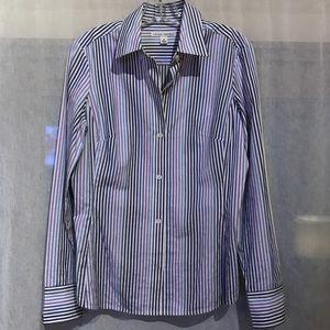 Banana Republic 100% Cotton Multi-Stripe Shirt